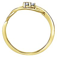 14K Yellow Gold Diamond Ladies' Ring
