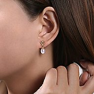 14K Yellow Gold Fashion Earrings