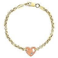 14K Yellow-Rose Gold Diamond Bracelet