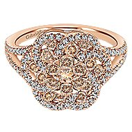 14k Rose Gold Cocoa Classic Ladies' Ring angle 1