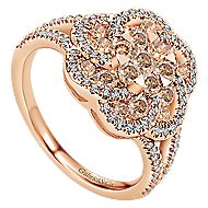14k Rose Gold Cocoa Classic Ladies' Ring angle 3