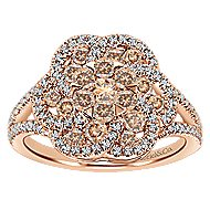 14k Rose Gold Cocoa Fashion Ladies' Ring angle 4