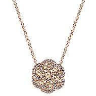 14k Rose Gold Cocoa Fashion Necklace angle 1