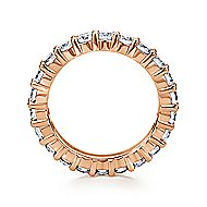 14k Rose Gold Contemporary Eternity Anniversary Band angle 2