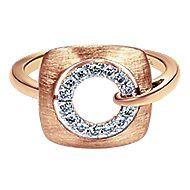 14k Rose Gold Contemporary Fashion Ladies' Ring angle 1