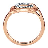 14k Rose Gold Contemporary Fashion Ladies' Ring angle 2