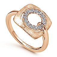 14k Rose Gold Contemporary Fashion Ladies' Ring angle 3