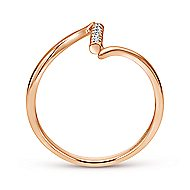 14k Rose Gold Contemporary Midi Ladies' Ring angle 2