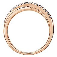 14k Rose Gold Contemporary Wide Band Ladies' Ring angle 2