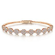 14k Rose Gold Demure Bangle angle 1