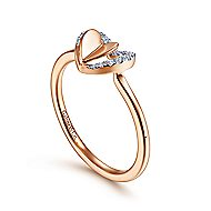 14k Rose Gold Eternal Love Fashion Ladies Ring