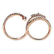 14k Rose Gold Fierce Fashion Ladies' Ring angle 2