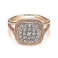14k Rose Gold Hampton Classic Ladies' Ring angle 1