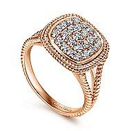 14k Rose Gold Hampton Classic Ladies' Ring angle 3