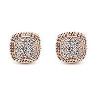 14k Rose Gold Hampton Stud Earrings