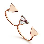 14k Rose Gold Kaslique Double Ring Ladies' Ring
