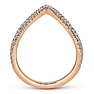 14k Rose Gold Kaslique Fashion Ladies' Ring angle 2