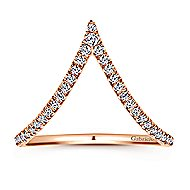 14k Rose Gold Kaslique Fashion Ladies' Ring angle 4