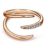 14k Rose Gold Kaslique Fashion Ladies' Ring