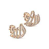 14k Rose Gold Kaslique Stud Earrings