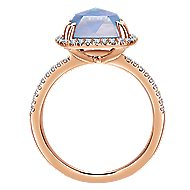 14k Rose Gold Lusso Color Classic Ladies' Ring