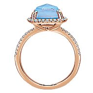 14k Rose Gold Lusso Color Classic Ladies' Ring angle 2