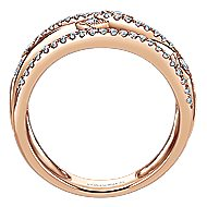 14k Rose Gold Lusso Diamond Fashion Ladies' Ring angle 2