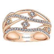 14k Rose Gold Lusso Diamond Fashion Ladies' Ring angle 4