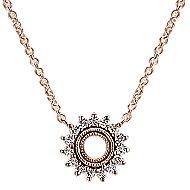14k Rose Gold Lusso Diamond Fashion Necklace angle 1