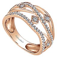 14k Rose Gold Lusso Fashion Ladies Ring
