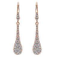 14k Rose Gold Messier Drop Earrings