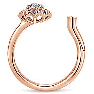 14k Rose Gold Messier Fashion Ladies' Ring angle 2
