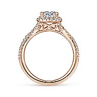 14k Rose Gold Pear Shape Twisted Engagement Ring
