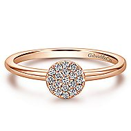 14k Rose Gold Silk Classic Ladies' Ring angle 1