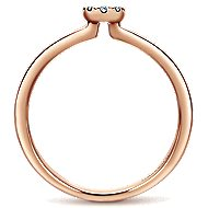 14k Rose Gold Silk Classic Ladies' Ring angle 2