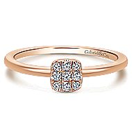 14k Rose Gold Silk Fashion Ladies' Ring angle 1