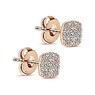 14k Rose Gold Silk Stud Earrings
