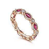 14k Rose Gold Stackable Ladies' Ring