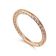 14k Rose Gold Stackable Ladies Ring