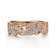 14k Rose Gold Stackable Ladies' Ring angle 1