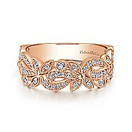 14k Rose Gold Stackable Ladies' Ring