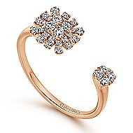 14k Rose Gold Starlis Fashion Ladies' Ring angle 3