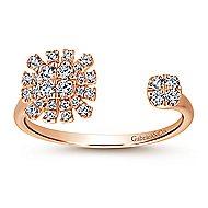 14k Rose Gold Starlis Fashion Ladies' Ring angle 4