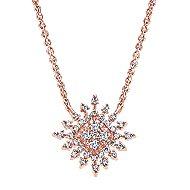 14k Rose Gold Starlis Fashion Necklace angle 1