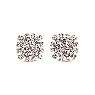 14k Rose Gold Starlis Stud Earrings angle 1