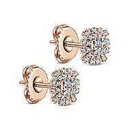14k Rose Gold Starlis Stud Earrings angle 2