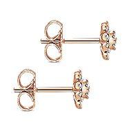 14k Rose Gold Starlis Stud Earrings angle 3