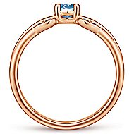 14k Rose Gold Trends Fashion Ladies' Ring angle 2