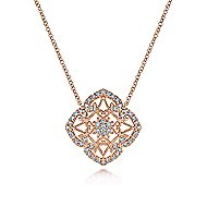 14k Rose Gold Victorian Fashion Necklace
