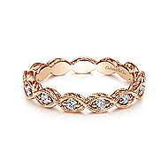 14k Rose Gold Victorian Midi Ladies' Ring